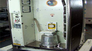 PHOTO One of the International Space Stations two toilets, like the one pictured here, is malfunctioning.
