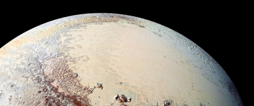 PHOTO: NASAs New Horizons spacecraft captured a high-resolution image of Plutos Sputnik Planum during its first exploration of the Pluto system in July 2015.