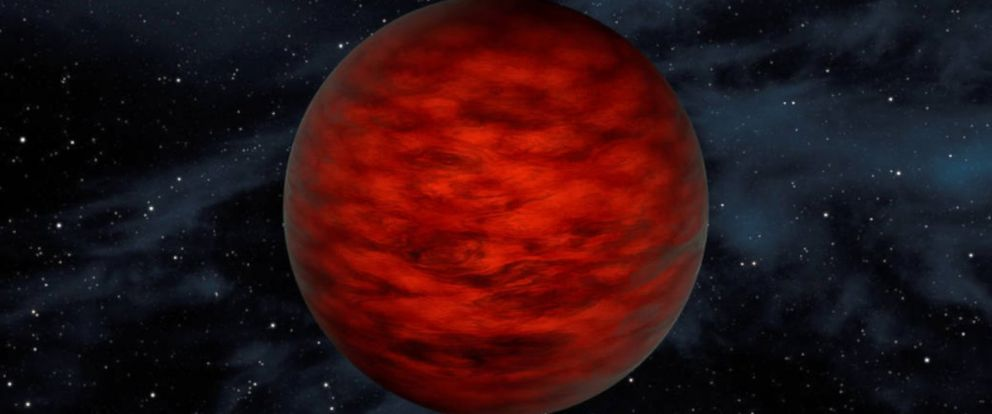 """PHOTO: In this illustration the object, called WISEA J114724.10-204021.3, is thought to be an exceptionally low-mass """"brown dwarf,"""" which is a star that lacked enough mass to burn nuclear fuel and glow like a star."""