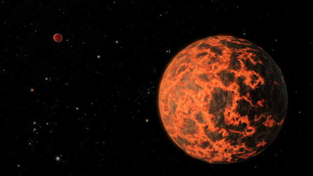 PHOTO: Artists conception of a planet, 33 light-years away, that is only about two-thirds as large as Earth. Until now, telescopes have been unable to find such small worlds.