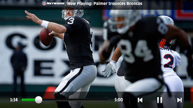 PHOTO: NFL Mobile for iPhone and Android has live audio and video recaps.