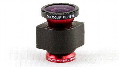 PHOTO: The OlloClip is a three in one lense kit for the iPhone,