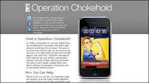 Operation Chokehold: iPhone Users to Protest AT&T Today