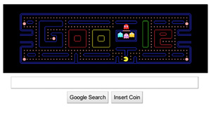 PHOTO To celebrate the 30th anniversary of the classic video arcade game, Google unveiled its first-ever interactive doodle ? a playable Pac-Man