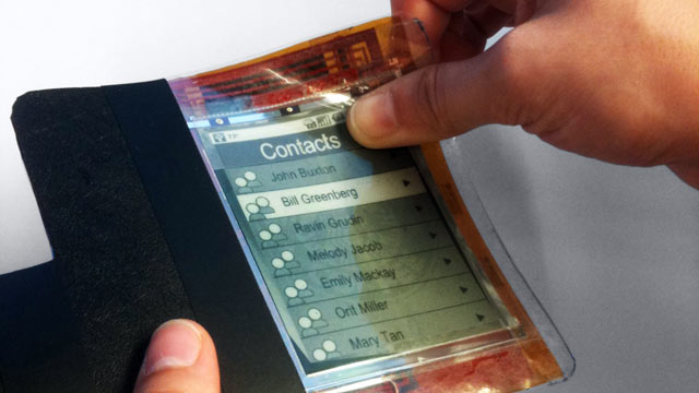 PHOTO:The next phase of smartphones could be as thin and light as a piece of paper.