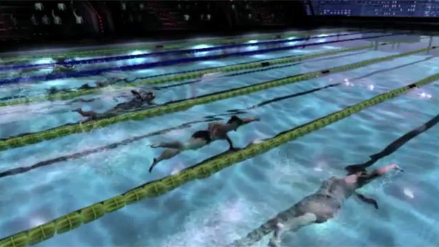 PHOTO: A screen grab from the Michael Phelps swimming game for Xbox.