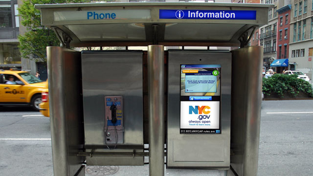 PHOTO: A mock-up of City24x7s new New York City phone booth.