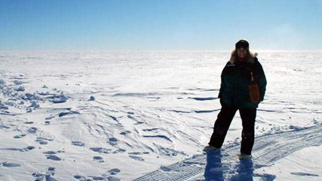 PHOTO:Renee-Nicole Douceur in Antarctica before she suffered an apparent stroke at the Amundsen-Scott South Pole Station in August.