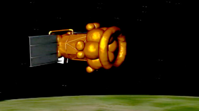 PHOTO: Computer animation of failed Russian Phobos Grunt space probe re-entering Earths atmosphere.