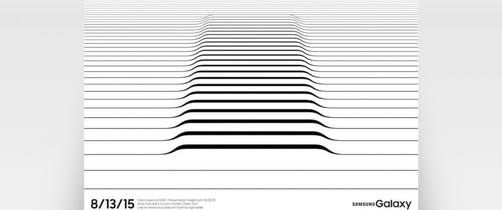 PHOTO: An invite to an upcoming Samsung Galaxy event in New York.