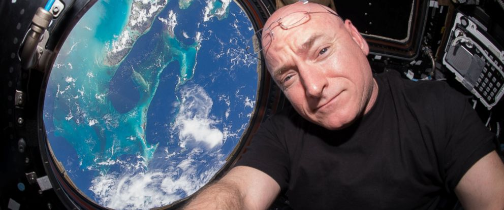 PHOTO:Scott Kelly is seen inside the Cupola, a special module that provides a 360-degree viewing of the earth and the space station, July 12, 2015.