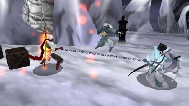 "PHOTO: Game play screen shot for Nintendo 3DS game, ""Shinobi."""