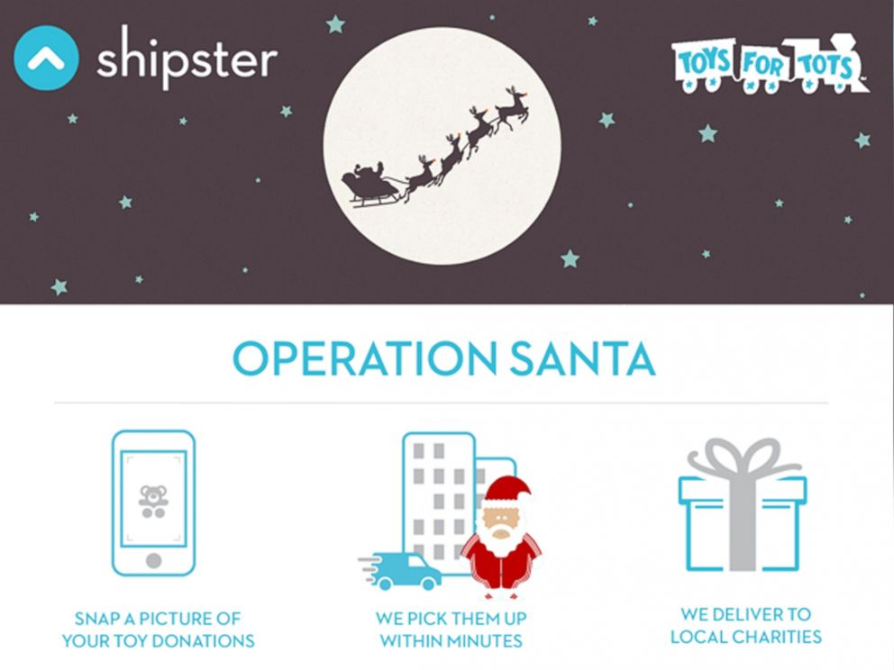 PHOTO: Shipster users could donate toys by taking a picture of the items they want delivered to local charities.
