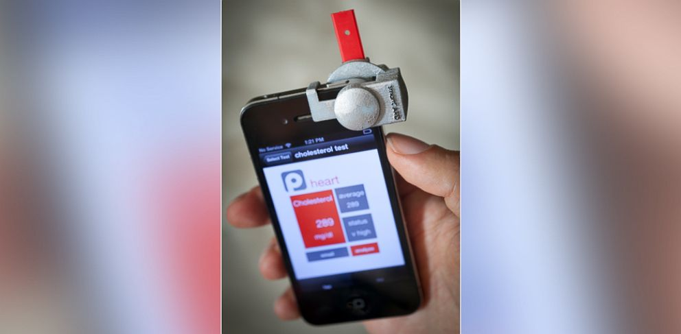 PHOTO: The SmartCARD can measure your cholesterol thanks to a smartphone.
