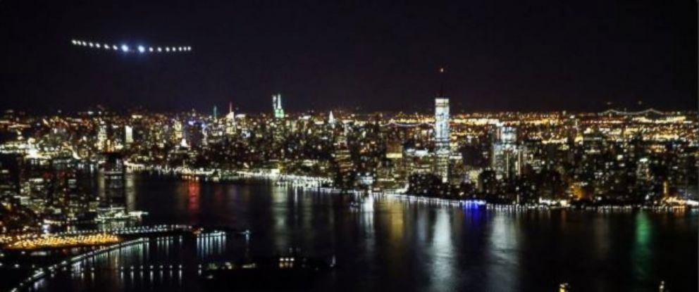 Image result for manhattan from airplane night