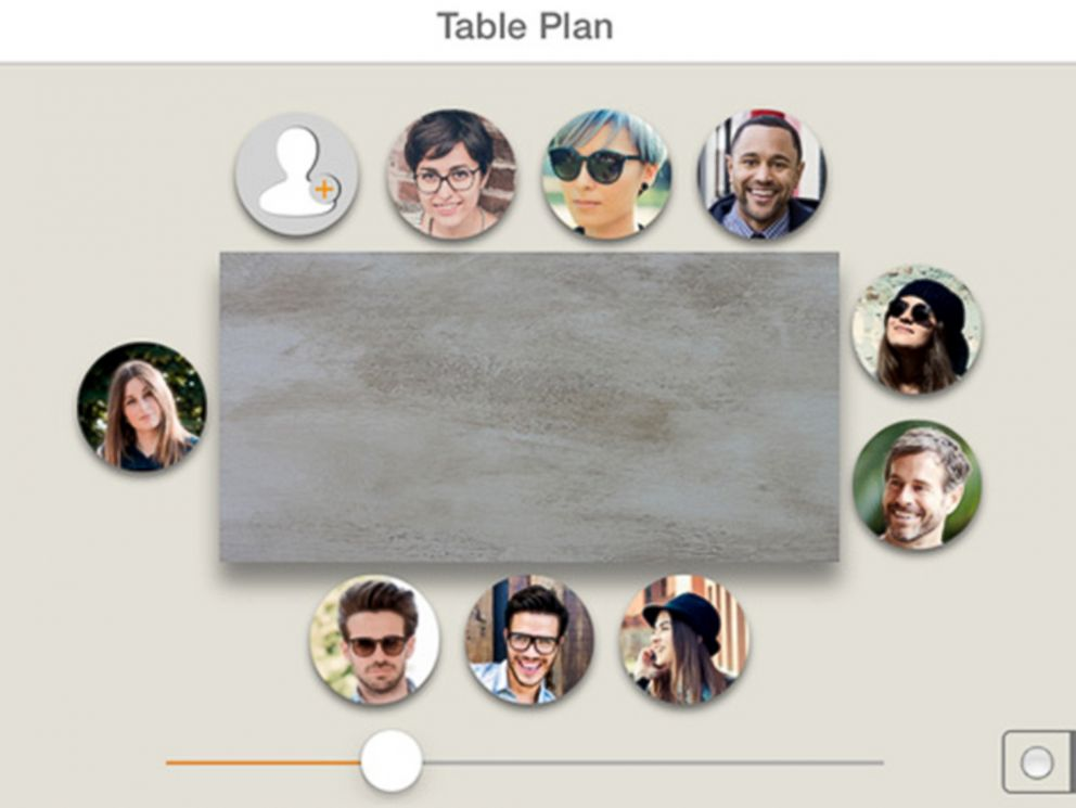 PHOTO: The makers of Table Plan say that the app will allow you to create seating plans for up to 30 guests at a round, square or rectangular table.
