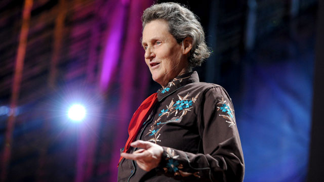 """PHOTO: Temple Grandin speaks at the TED2010 during Session 9: """"Imagination"""" in this Feb. 12, 2010 file photo in Long Beach, Cali."""