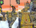 PHOTO: Temple Run 2 provides players with the same bridge jumping, monkey fleeing fun found in Temple Run, but with improved graphics.
