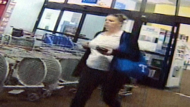 PHOTO: A woman caught on surveillance video stole more than 100 iPads from Wal-Mart or Target stores in 36 different cities.