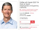 PHOTO: A lunch with Apple CEO Tim Cook has been auction off for over $500,000.