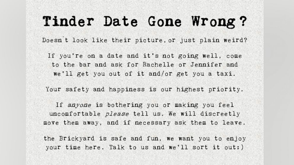 UK Bar Offers an Escape Plan for Tinder Dates Gone Wrong
