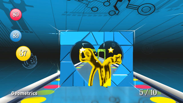"PHOTO: Game play from the XBox Kinect game ""Twister Mania."""