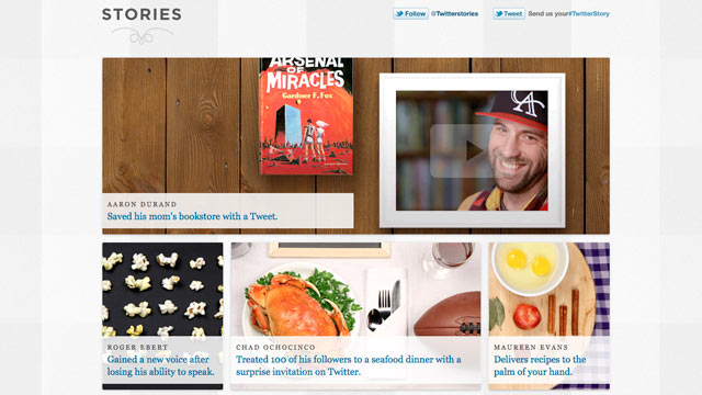 PHOTO: Twitter Stories is a new blog launched by Twitter.