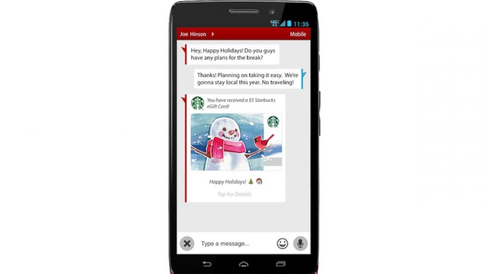 37c620da0335 Verizon Lets Users Text Message the Gift of Coffee - ABC News