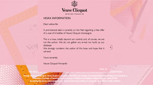 French champagne house Veuve Cliquot victim of email hoax