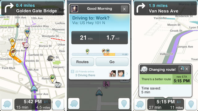 PHOTO: Waze social GPS