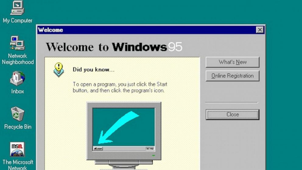 A screenshot of Microsoft's Windows 95 is featured in this undated file photo.