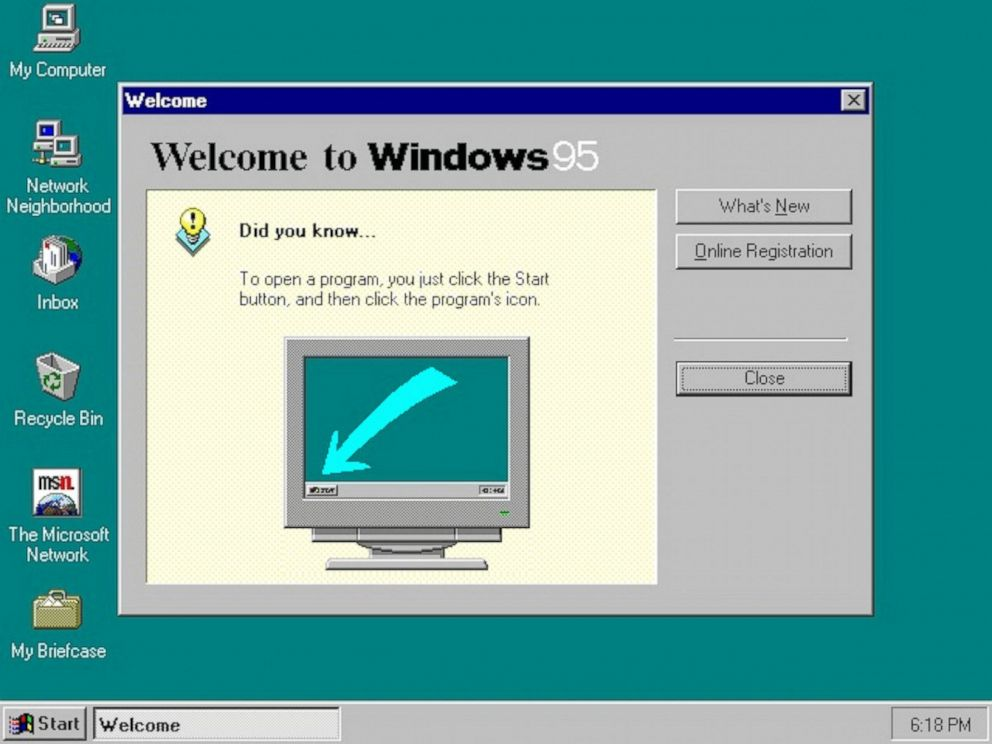 PHOTO:A screenshot of Microsofts Windows 95 is featured in this undated file photo.
