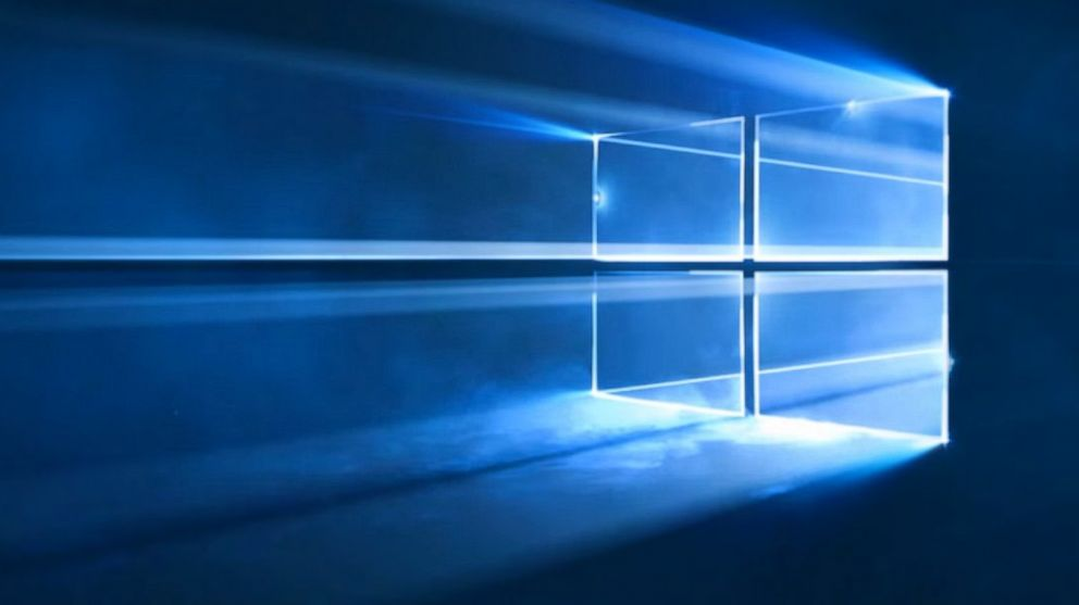 windows 10 lasers smoke machines and falling crystals help make new wallpaper abc news
