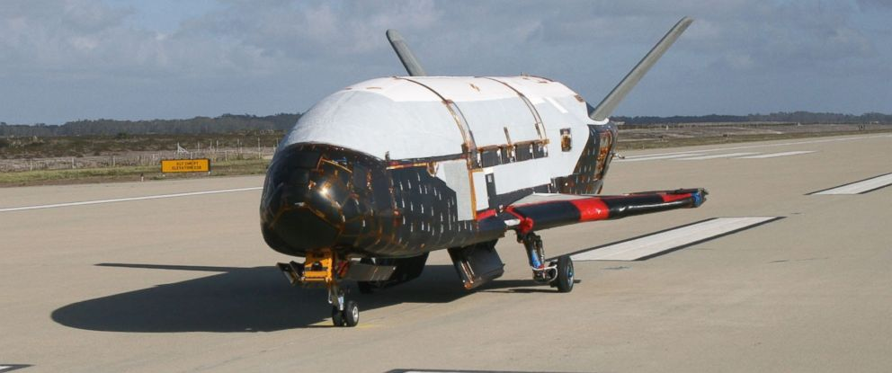 PHOTO: In a testing procedure, the X-37B Orbital Test Vehicle taxis on the flightline, June 2009 at Vandenberg Air Force Base, Calif.