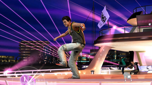 PHOTO: Unlike other dancing games, Zumba Fitness 2 asks you to slip your controller into a belt.