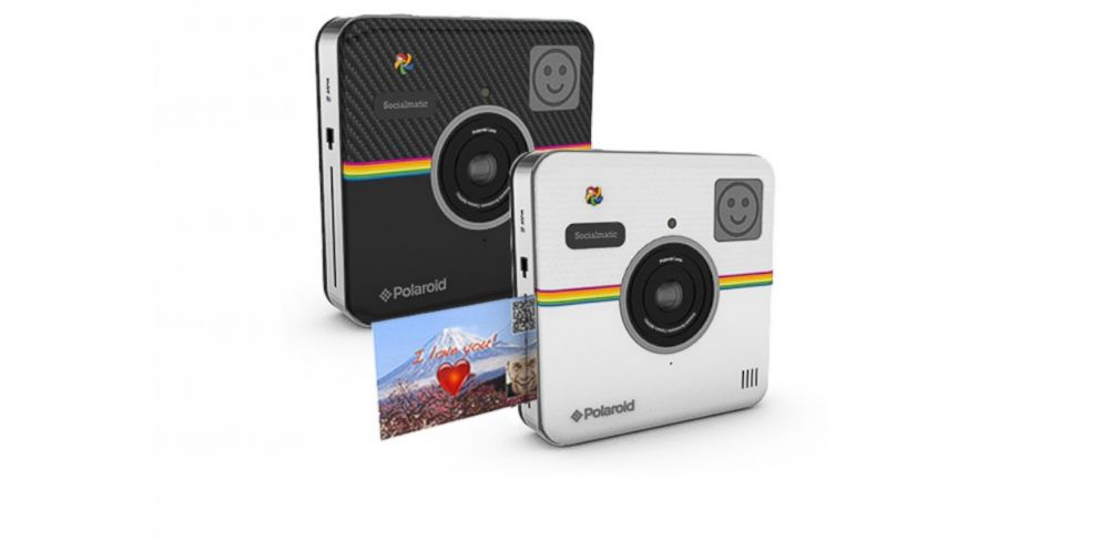 PHOTO: The Polaroid Socialmatic camera will give users the ability to both print and upload their photos instantly.