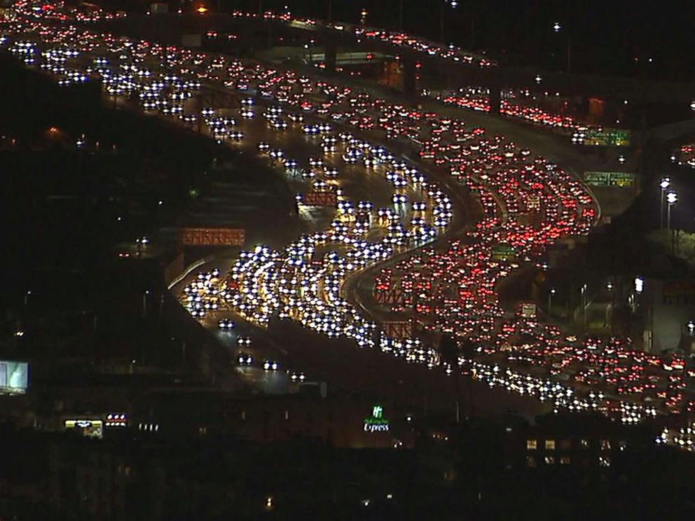 PHOTO: This image taken from video captures Los Angeles traffic ahead of Thanksgiving.