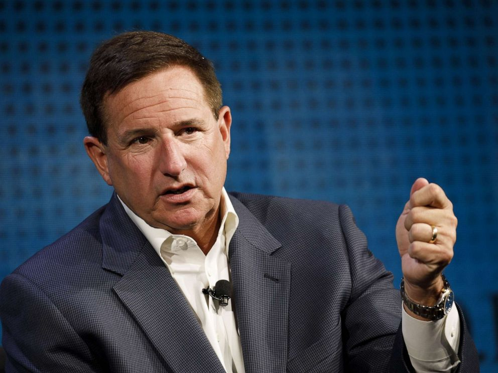 PHOTO: Mark Hurd speaks during the Wall Street Journal D.Live global technology conference in Laguna Beach, Calif., Oct. 18, 2017.
