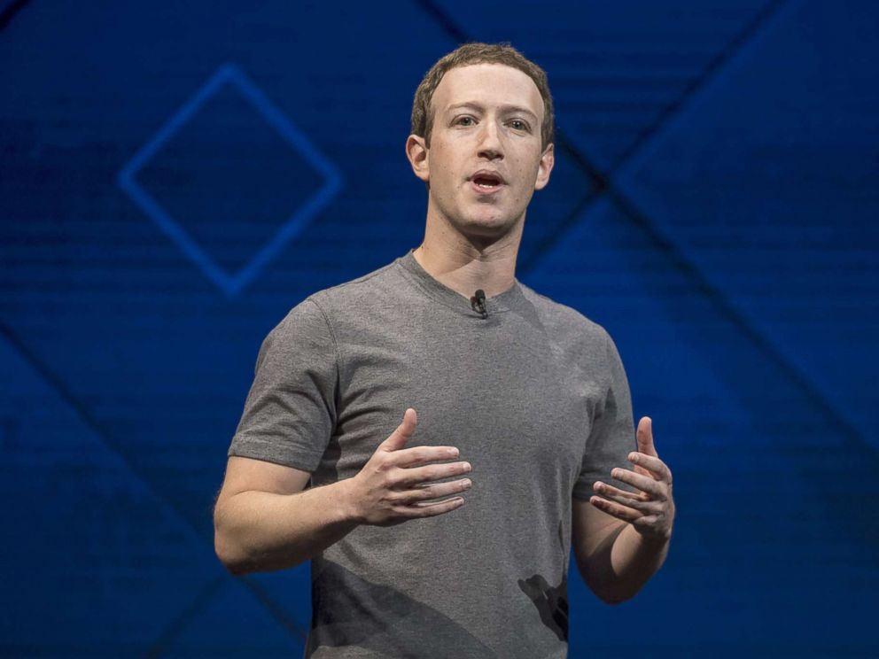 PHOTO: Mark Zuckerberg, chief executive officer and founder of Facebook Inc., speaks during the F8 Developers Conference in San Jose, Calif., April 18, 2017.