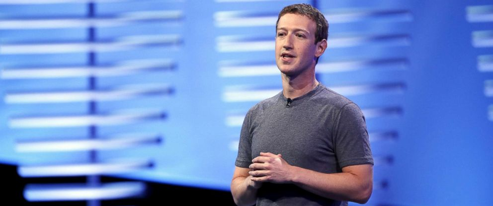 PHOTO: Facebook CEO Mark Zuckerberg speaks on stage during the Facebook F8 conference in San Francisco, April 12, 2016.