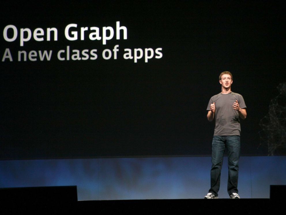 PHOTO: Facebook CEO Mark Zuckerberg delivers a keynote during the Facebook f8 Developer Conference at the San Francisco Design Center in San Francisco in this file photo dated Sept. 22, 2011.