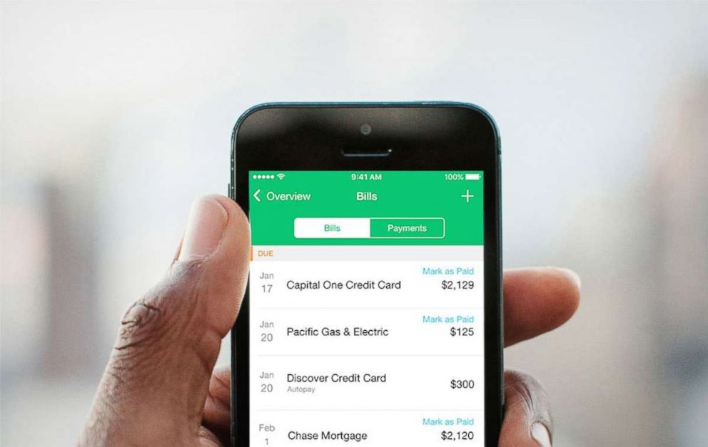 PHOTO: With the app Mint, you can see all your finances at a glance.