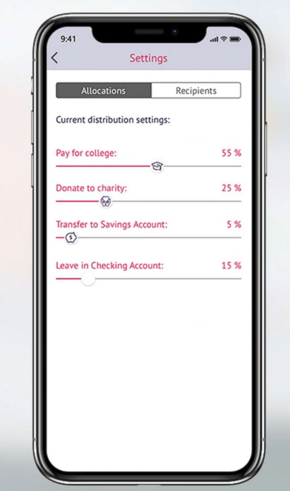 PHOTO: The Swoup app is intended to allow you to offset the cost of college or trade school, pay down student loans, donate to charity or simply save money.