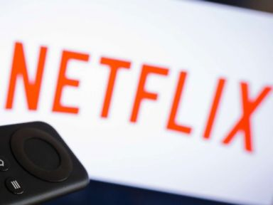PHOTO: The logo of the media company Netflix can be seen on a TV, April 18, 2017, in Berlin. Netflix is one of the worlds largest streaming services.