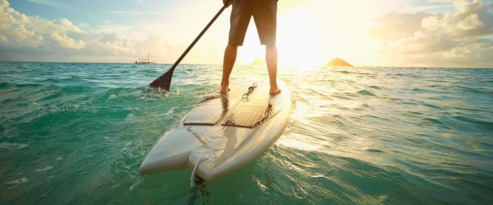 PHOTO: An undated stock photo of a man on a paddle board.