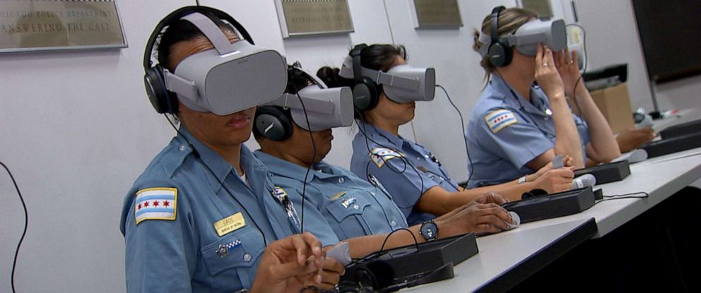 PHOTO: A new pilot program in Chicago is being hailed as a potentially groundbreaking new tool that uses virtual reality to help police better understand how to handle a subject who is in the midst of psychiatric distress.