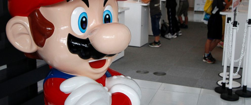 "PHOTO: ""Mario"", a character in Nintendo Co Ltds ""Mario Bros"" video games, is seen at the companys showroom in Tokyo July 28, 2011."
