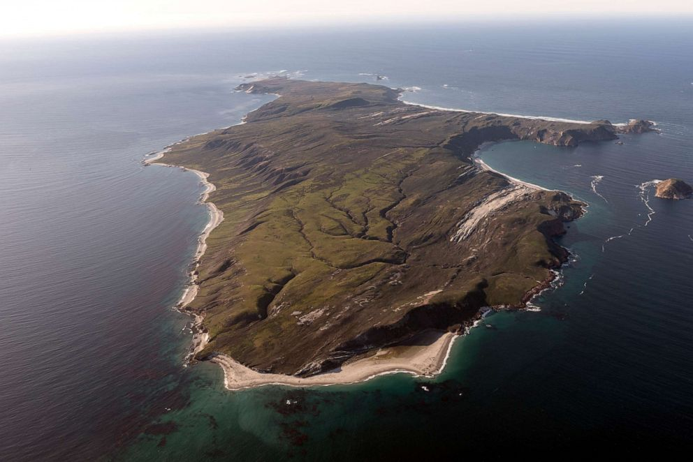 PHOTO: In this undated photo, an aerial view of Santa Rosa Island is shown, one of eight islands in the Channel Islands archipelago located in Santa Barbara Channel of the Pacific Ocean off the coast of Southern Calif.