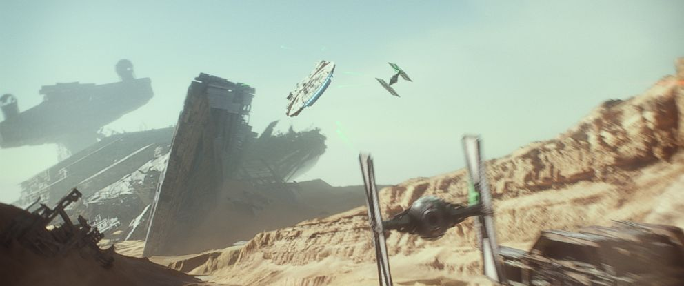 PHOTO: A scene from Star Wars: The Force Awakens.