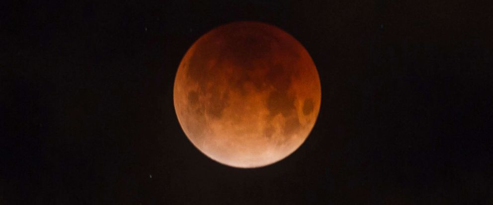 PHOTO: A rare super blue blood moon could be viewed for a short time above Boise, Jan. 31, 2018.